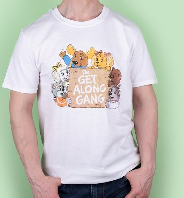 Men's The Get Along Gang Retro Logo White T-Shirt