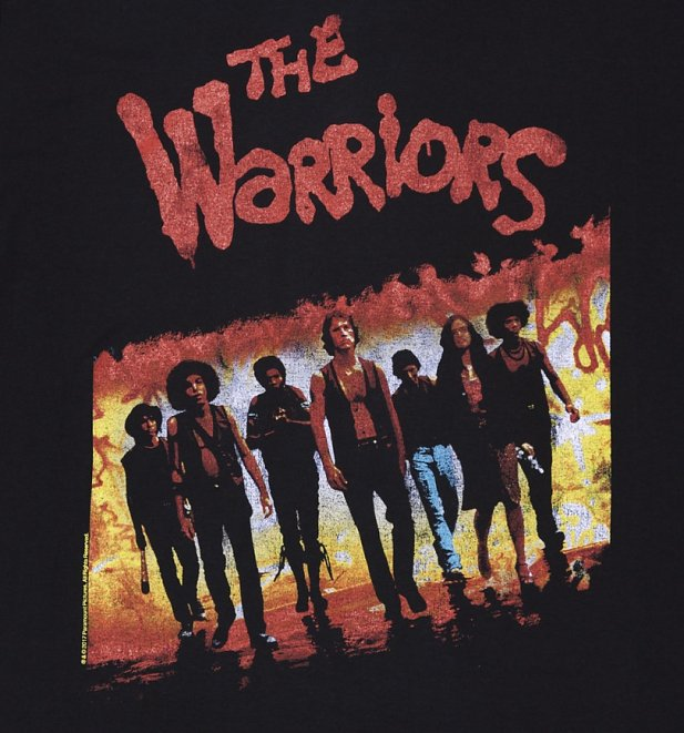 Official men 39 s the warriors movie poster t shirt ebay for Same day custom t shirts nyc