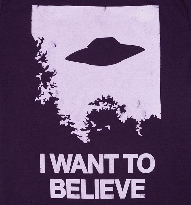 Men's The X-Files Inspired I Want To Believe Blackberry T-Shirt