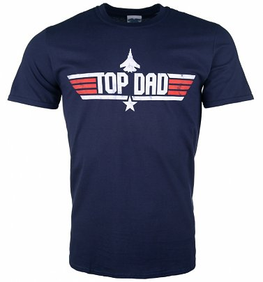 Men's Top Dad Navy T-Shirt