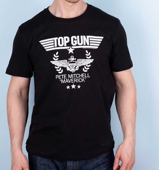Men's Top Gun Pete Mitchell Maverick Black T-Shirt