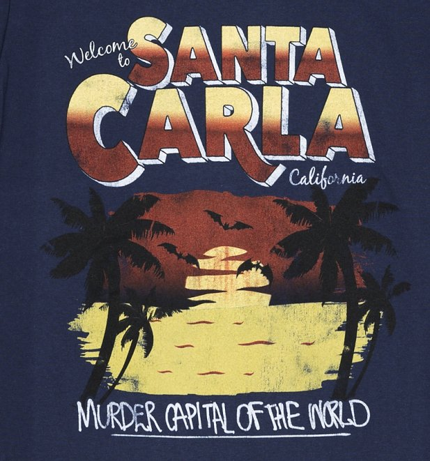 Men's Welcome to Santa Carla Navy T-Shirt