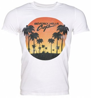 Men's White Beverly Hills Cop Sunset T-Shirt