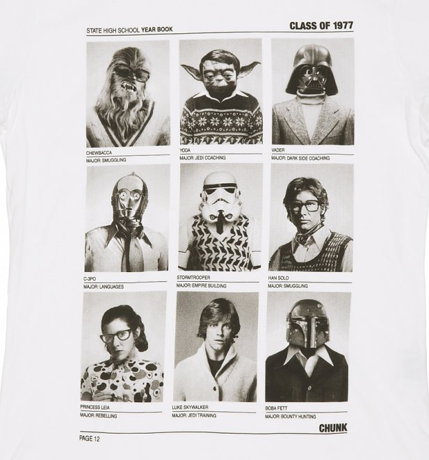 white class of 77 wars t shirt from chunk