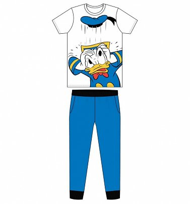 Men's White Donald Duck Pyjamas