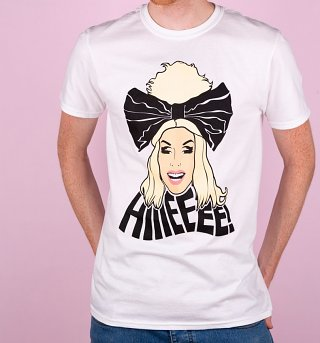 Men's White RuPaul's Drag Race Alaska Hiiieeee! T-Shirt