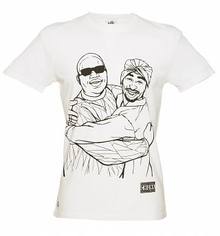 Men's White Hug Life T-Shirt from Chunk