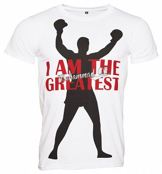 Men's White I Am The Greatest Muhammad Ali T-Shirt