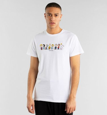 Men's White Organic Peanuts Crew T-Shirt from Dedicated