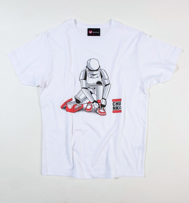 Men's White Out Of The Box Stormtrooper Star Wars T-Shirt from Chunk