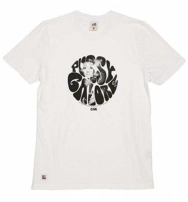 Men's White Pussy Galore James Bond T-Shirt from Chunk