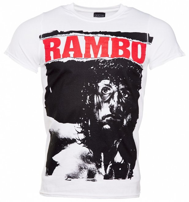 Men's White Rambo Stare T-Shirt