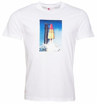 Men's White Rocket Lolly T-Shirt from Chunk