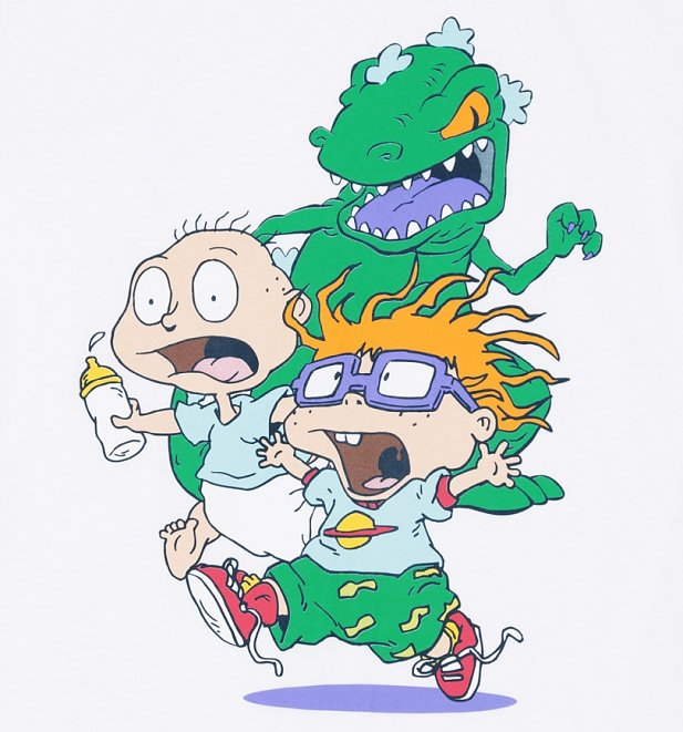 Men's White Rugrats Chase T-Shirt