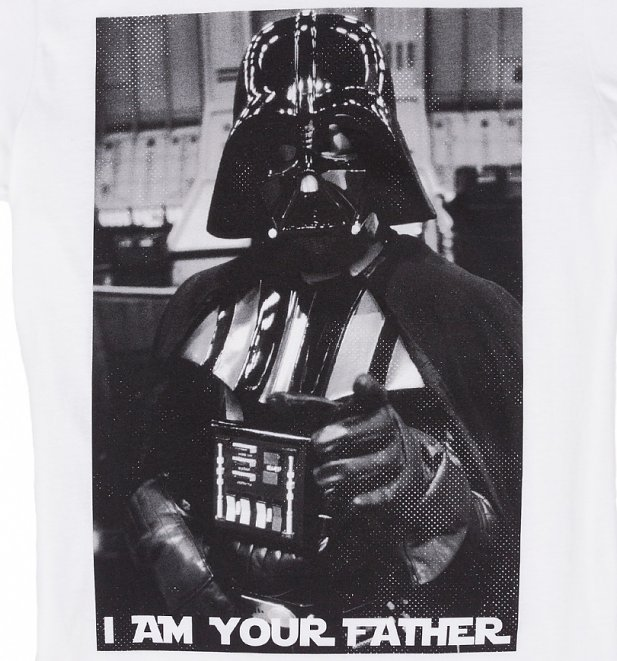 Men's White Star Wars Darth Vader I Am Your Father T-Shirt