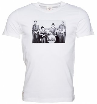 Men's White The Baddies James Bond T-Shirt from Chunk