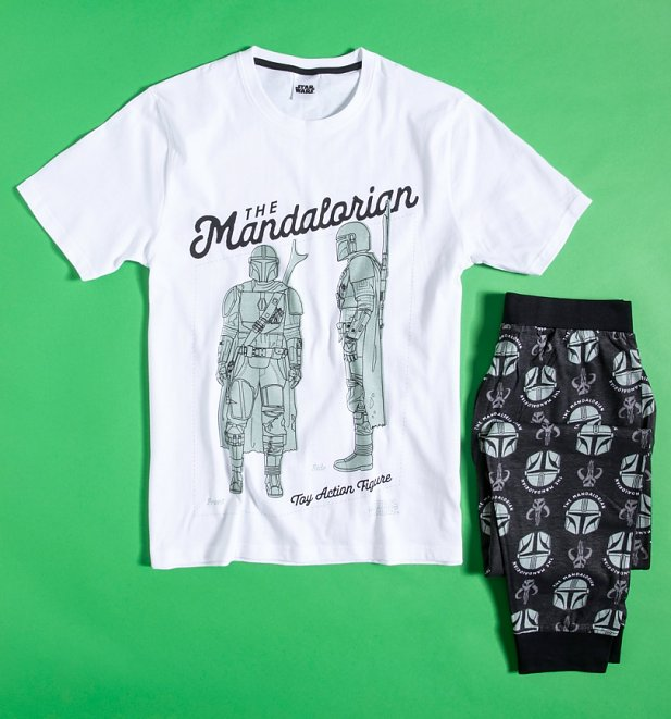 Men's White The Mandalorian Pyjamas