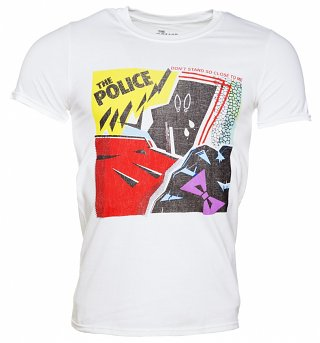 Men's White The Police Don't Stand So Close To Me T-Shirt