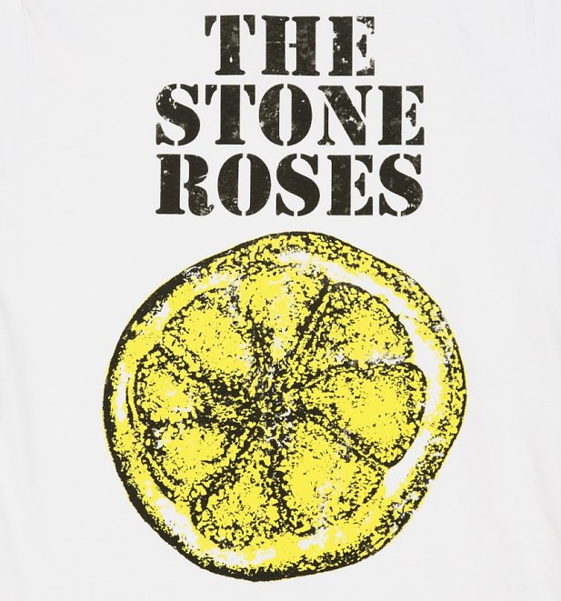 Men's White The Stone Roses Lemon T-Shirt from Amplified