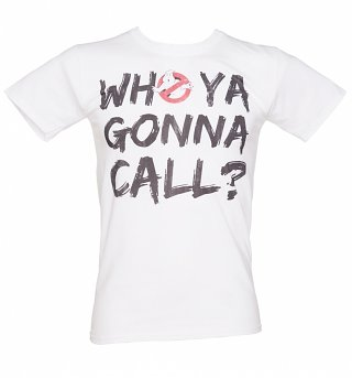 Men's Who Ya Gonna Call Ghostbusters T-Shirt
