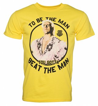 Men's Yellow Be The Man Ric Flair T-Shirt