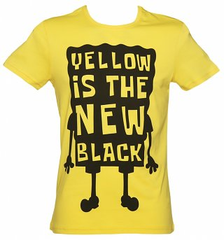 Men's Yellow Is The New Black SpongeBob SquarePants T-Shirt