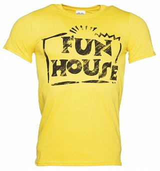 Men's Yellow Team Fun House T-Shirt