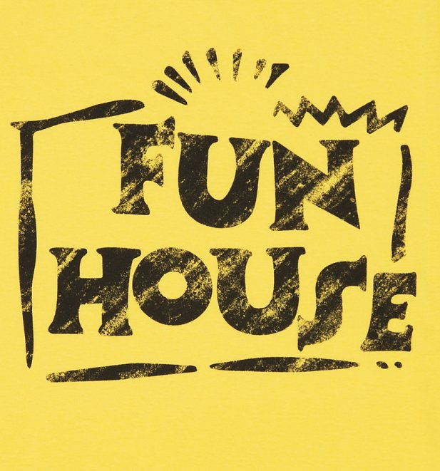 Men's Yellow Team Fun House Logo T-Shirt