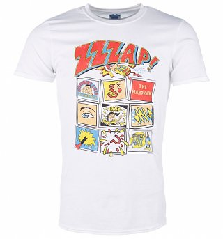 Men's Zzzap Inspired Comic Book Cover White T-Shirt
