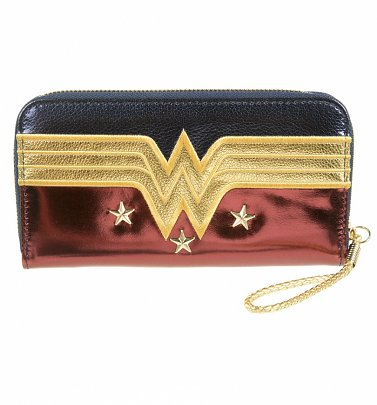 Metallic Wonder Woman Zip Up Wallet