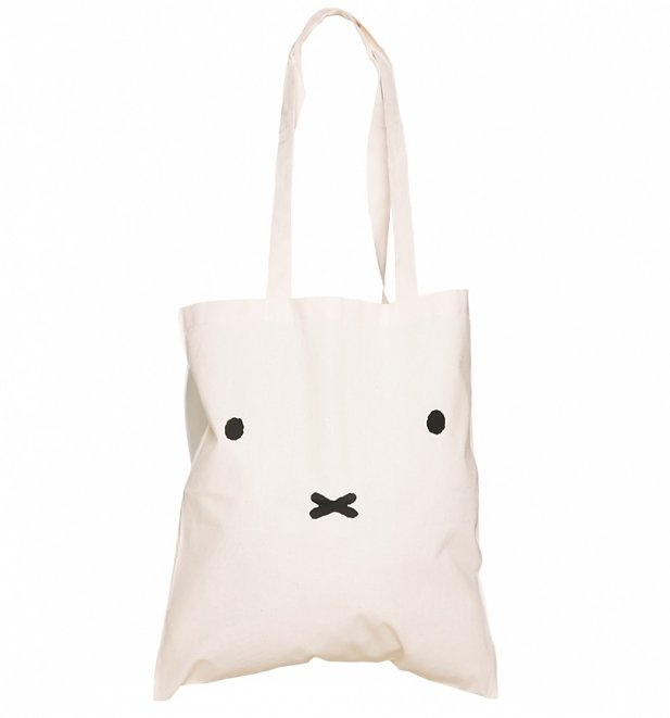 Miffy Face Canvas Tote Bag