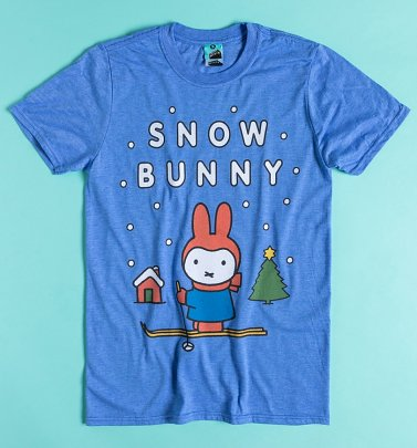 Miffy Snow Bunny Blue Marl T-Shirt