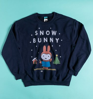 Miffy Snow Bunny Navy Sweater