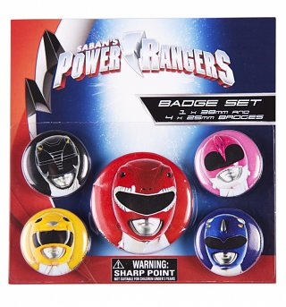 Mighty Morphin Power Rangers Badge Pack