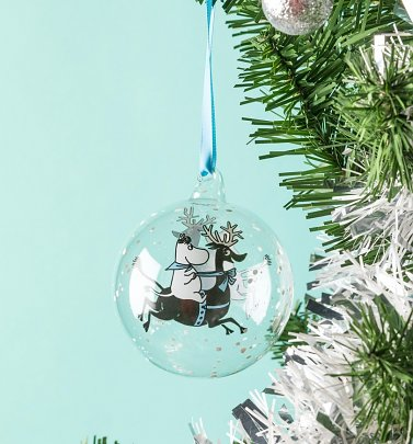 Moomin Reindeer Ride Christmas Bauble