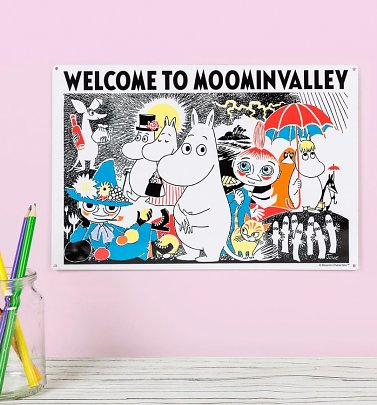 Moomins Welcome To Moominvalley Metal Sign