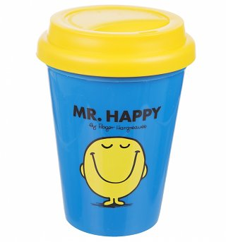 Mr Happy Travel Mug
