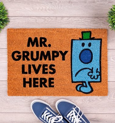 Mr Men Mr Grumpy Lives Here Door Mat