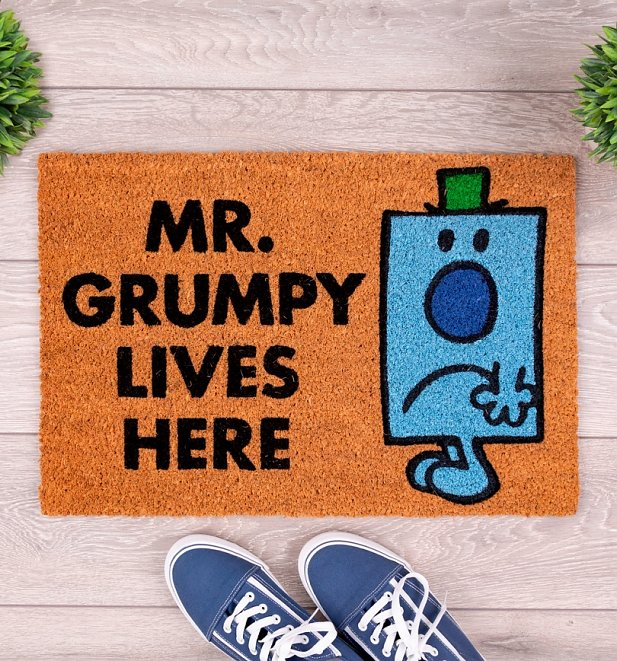 Mr Men Exclusive Mr Grumpy Lives Here Door Mat