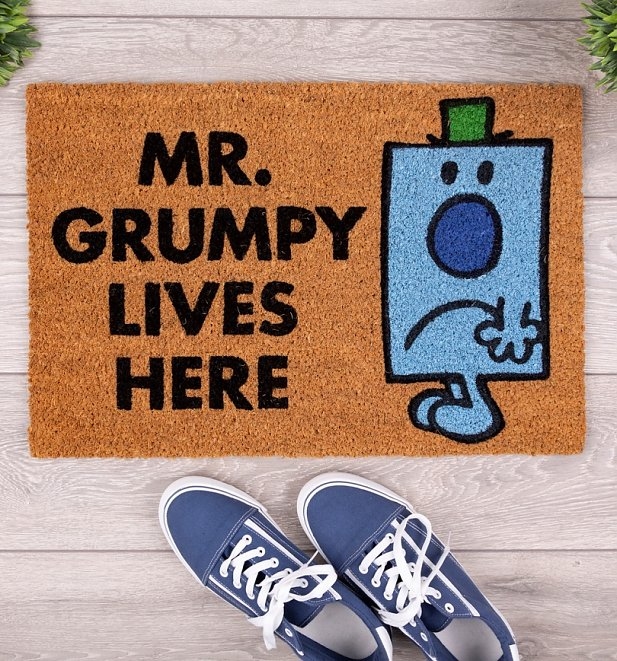 Exclusive Mr Grumpy Lives Here Door Mr Men Mat