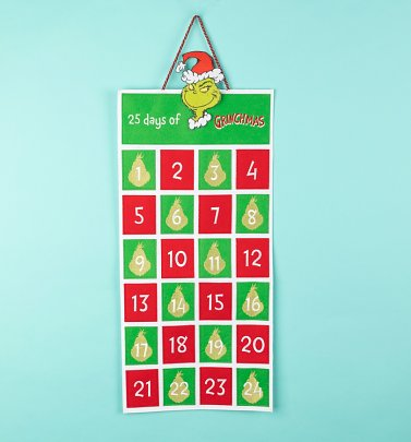 Mr Seuss The Grinch Fabric Advent Calendar