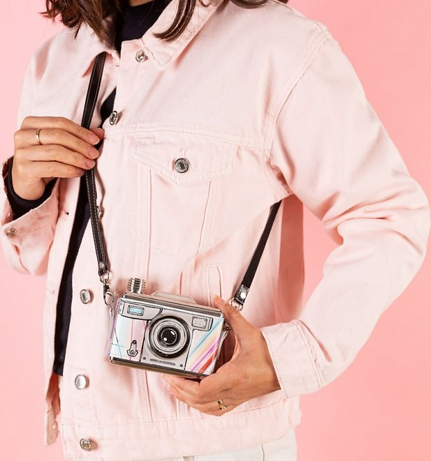 Multi Colour Retro Camera Hip Flask from House Of Disaster