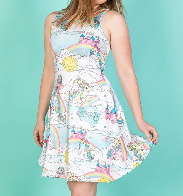 My Little Pony Rainbow Clouds Retro Ponies Skater Dress from Wild Bangarang