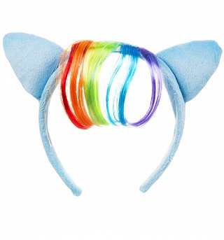 My Little Pony Rainbow Dash Plush Headband With Ears And Hair