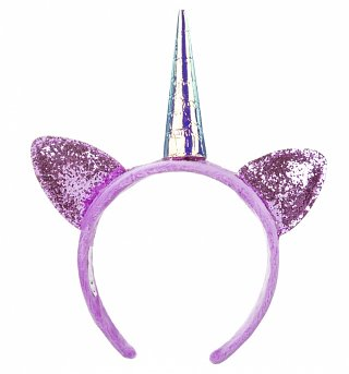 My Little Pony Twilight Sparkle Plush Glitter Headband With Ears and Horn