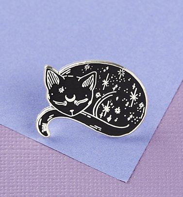 Mystical Cat Enamel Pin from Punky Pins