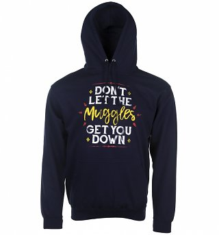 Navy Don't Let The Muggles Get You Down Harry Potter Hoodie