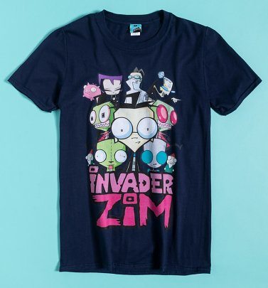 Nickelodeon Invader Zim Navy T-Shirt