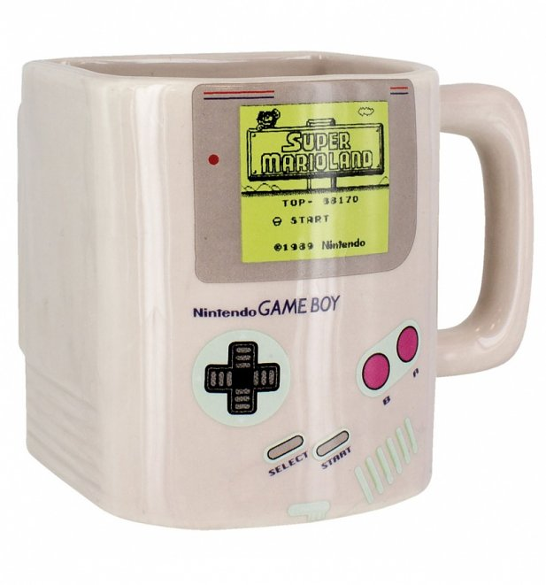 Nintendo Game Boy Mug With Biscuit Holder