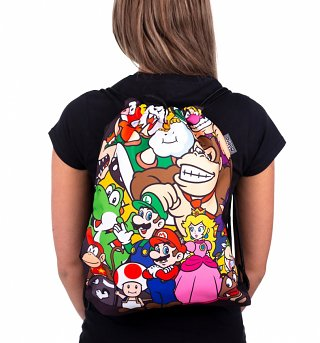 Nintendo Mario and Friends Drawstring Bag